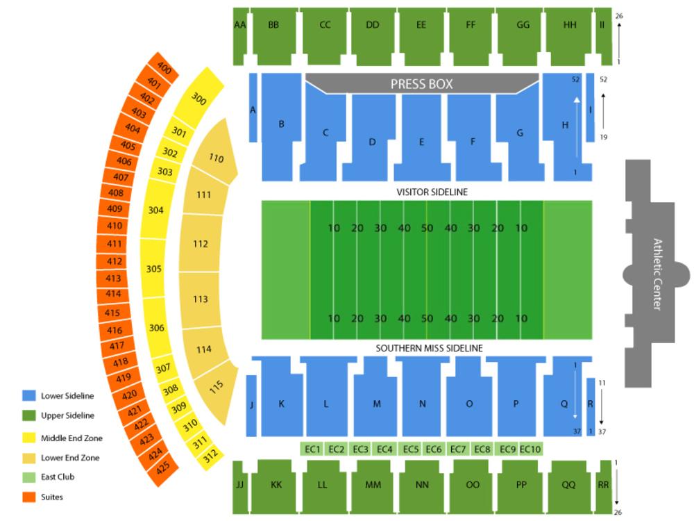 mm roberts stadium seating chart